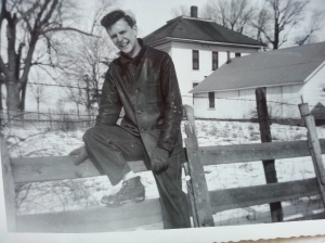 Dad on the Rahn farm
