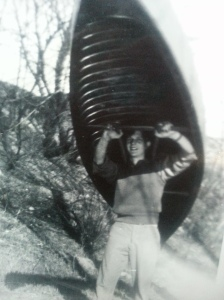Dad and his canoe