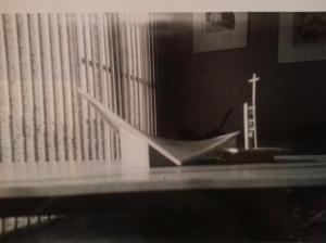 Dad's model of St. Edmund's Church