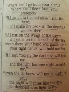 Psalm 139: 7-12